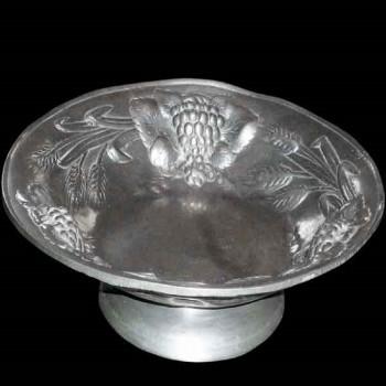 Fruit bowl in solid pewter (France)