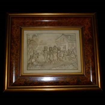 bas relief frame, limestone