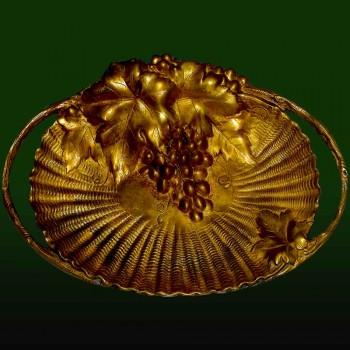 Art Nouveau bronze cup
