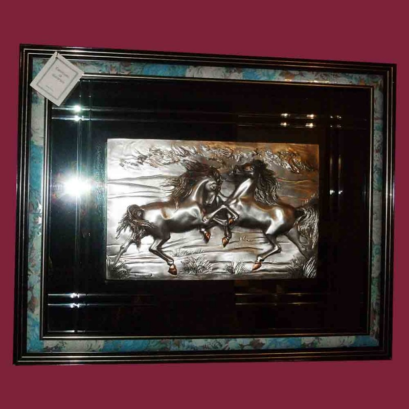 Vintage bas relief painting