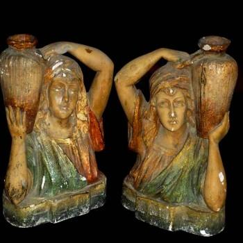 Paire de bustes orientaliste fin 19 siècle