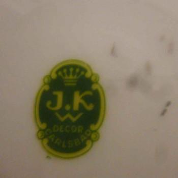 Porcelain plate Karlsbad J.K.W.