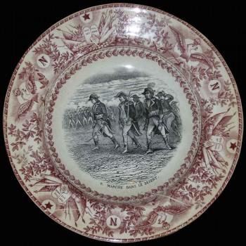 Decorative plate Battle of Napoleon Maastricht ceramic company