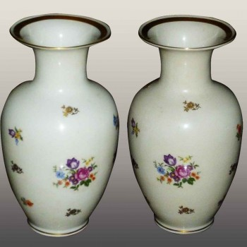 pair of german democratic republic porcelain vase