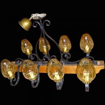8 light beam chandelier