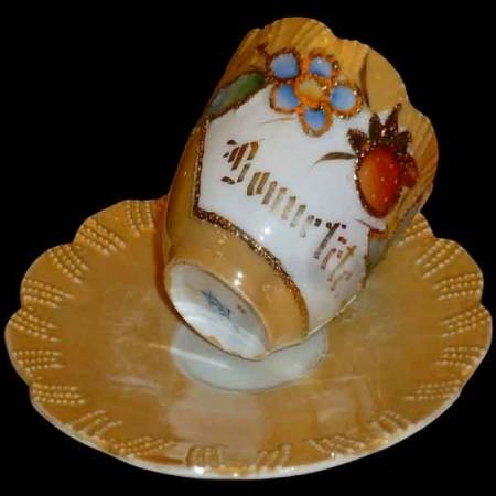 Taza y platillo de porcelana fina JPF Germany