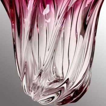 Vintage Val Saint Lambert crystal vase
