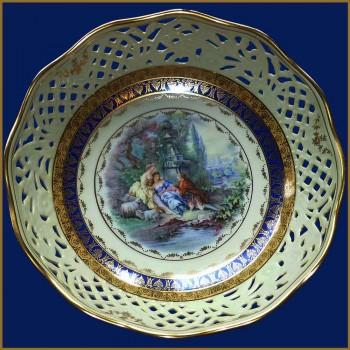 """Gloria"" perforated porcelain basket"