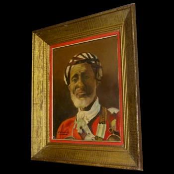 "Orientalist painting ""man in a turban"""