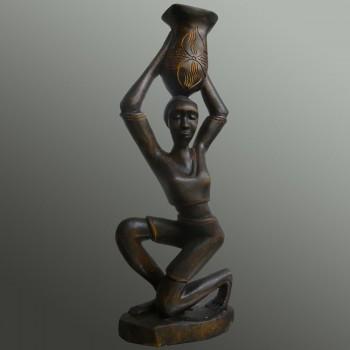 Art tribal porteuse d'eau Sénégal 1960-1970