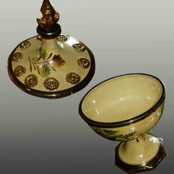 vintage orientalist style covered vase Becquet Quaregnon