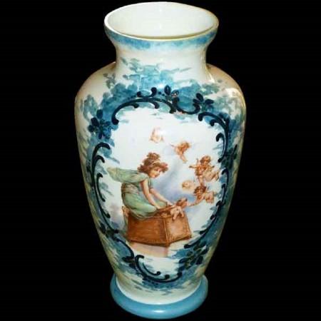 Vaso opalino 1900